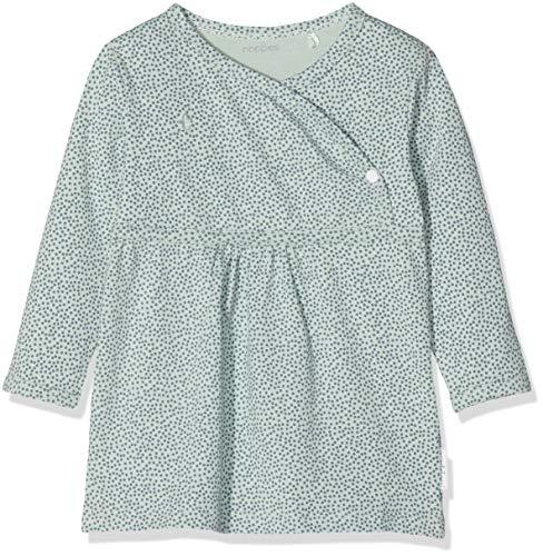 Noppies Baby-Mädchen G Dress ls Mattie Kleid, Grün (Grey Mint C175), Neugeboren (Herstellergröße: 44)