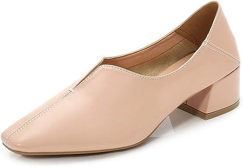zapatos Ocasionales Para mujeres zapatos Planos Para Trabajar Mocasines zapatos Perezosos Tacones Altos Profesionales Mary Jane