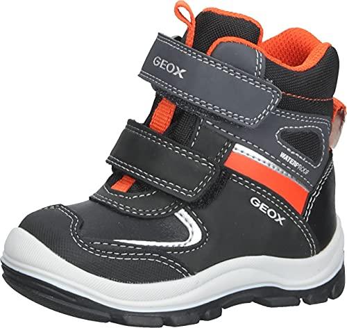 Geox Baby Boy B FLANFIL BOY WPF B ANKLE BOOTS BLACK/ORANGE_23 EU