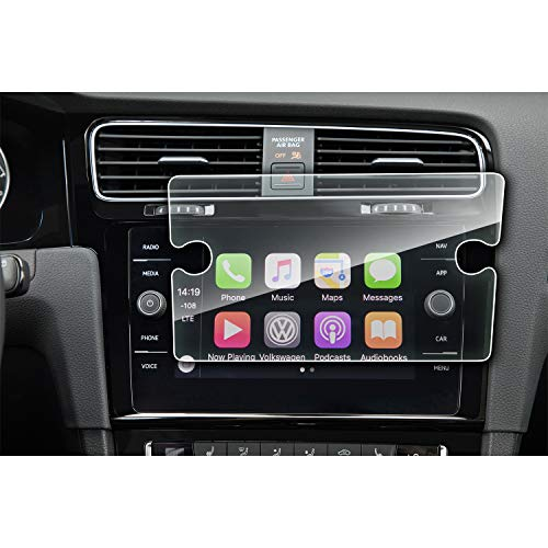 YEE PIN Golf MK7 Discover Media Navigation Schutzfolie GPS Displayschutzfolie Navi Folie Gehärtetes Glas Schutz Auto Zubehör 8 Zoll