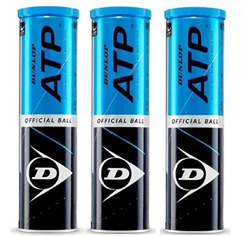 Dunlop - Palline da tennis ATP ufficiali, confezione da 12
