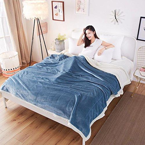 Preisvergleich Produktbild Daunendecken Atmungsaktiv und komfortabel Single Doppel-Kind Kinder verfügbar Maschinenwäsche Geeignet für Stuhl Schlafsofa -Max Home ( Farbe : Blau ,  größe : 180*200cm )