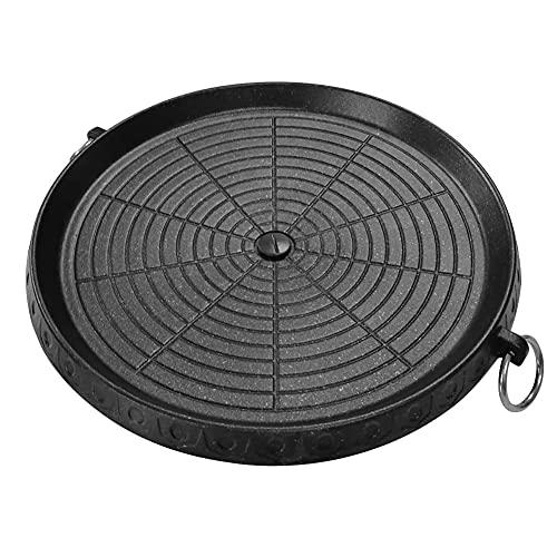 Estilo coreano barbacoa parrilla Pan con superficie cubierta Maifan antiadherente sin humo placa de barbacoa para interior al aire libre parrilla