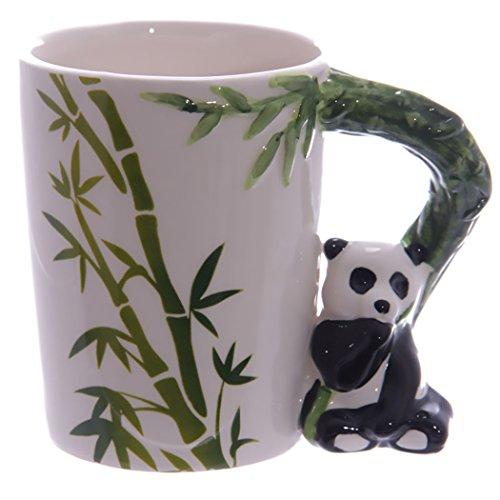 Tasse Panda #50231 Panda Henkel mit Bambus Deko-Druck