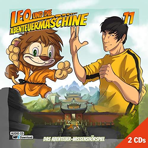 Leo und die Abenteuermaschine 11 |  Kinderhörspiel | Doppel CD + mp3 Inside |Wissenshörspiel für Kinder | Bruce Lee | Karma