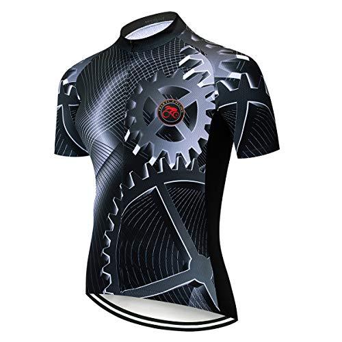weimostar Fahrradtrikot für Herren, Sommer, kurzärmelig, für Mountainbike, Rennrad, Radtrikot, Oberteil