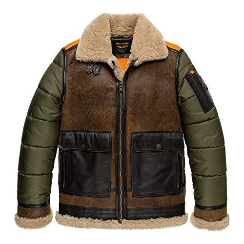 PME Legend Short Jacket Skygoose - Lederjacke, Größe_Bekleidung:XL, Farbe:Chocolate lab