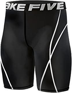 JustOneStyle New 022 Skin Tights Compression Base Layer Black Running Short Pants Mens