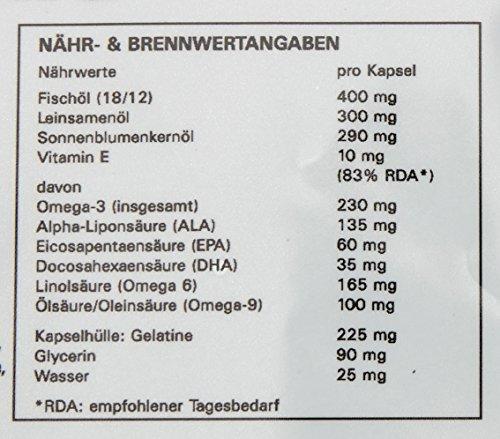Syglabs Nutrition Omega 3 – 6 – 9, 1000 mg hochdosiert + Vitamin E – 500 Kapseln - 4