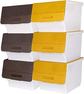 MU Boîte de Rangement Portable à Usage Domestique en Bois Massif, Plastique, Couverte, Jouet à grignoter, Avant Ouverte, A...