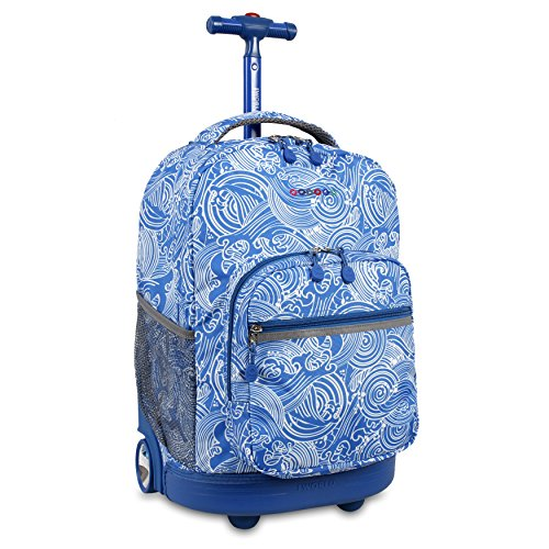 J World New York Sunrise Rolling Backpack, Wave, 18'