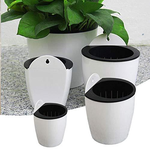 PUNGDUNK Encapsulamiento Olla Automática Flor De Absorción De Agua Hidroponía Montado En La Pared De Casa De Plástico De Pared Planta En Maceta Bonsai Mini Jardín (Sheet Size : Small)