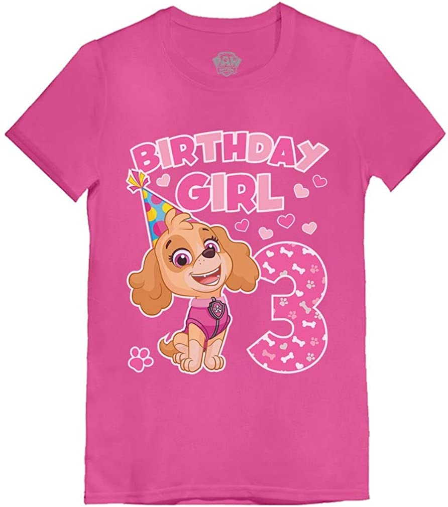 Birthday Girl Shirt Paw Patrol Skye 3rd Birthday Infant Girls' Fitted T-Shirt