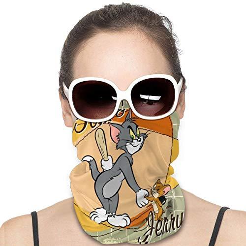 Yellowbiubiubiu Tom Jerry Anime Cat Mouse Variedad Turbante bufanda de protección contra el polvo para hombres y mujeres cubierta de cuello polainas para el verano caliente ciclismo senderismo pesca deporte al aire libre