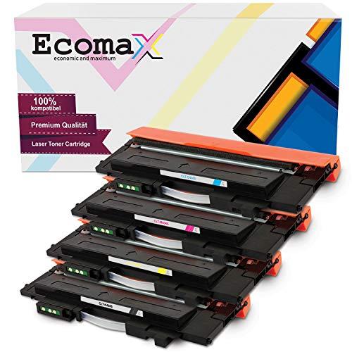 Ecomax 4 Toner kompatibel zu Samsung CLT-P404C/ELS für Samsung Xpress C480W C480FN C480FW C430W Farblaserdrucker - Schwarz 1.500 Seiten, Color je 1.000 Seiten