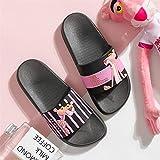 ManRuiDian De dibujos animados de la Pantera Rosa de verano zapatillas de las mujeres pizarras playa de diapositivas de las señoras antideslizantes chanclas mujeres de origen zapatillas 42 pisos de ba
