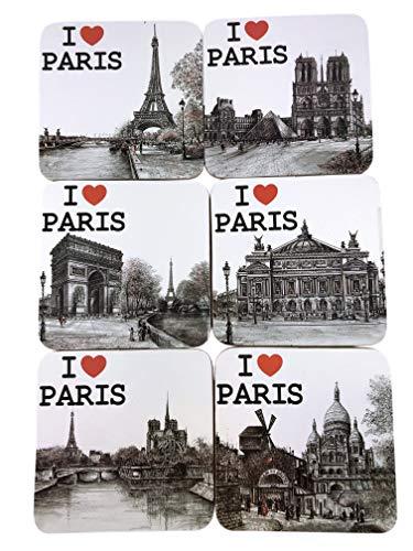 Posavasos Love Paris – Colección Souvenir de París