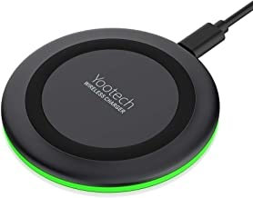Yootech Wireless Charger Qi-Certified 7.5W Wireless Charging Compatible with iPhone XS MAX/XR/XS/X/8/8 Plus,10W Compatible Galaxy Note 10/Note 10 Plus/S10/S10 Plus/S10E/S9(No AC Adapter)