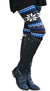 JOFOW Women's Leggings,Christmas Stripe Floral Print Boho Skinny Elastic Stretch Workout Gym Jogger Pants for Women