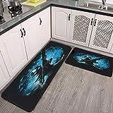 Avatar.png - Alfombrilla de cocina (2 unidades, acolchada, antifatiga, impermeable, antideslizante, para cocina, cocina, piso, oficina, fregadero, lavandería