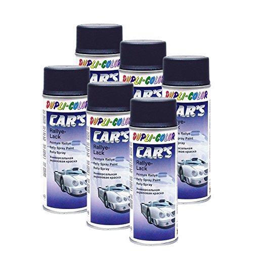 DUPLI_bundle 6X Dupli-Color Cars Rallye Spray schwarz matt 400 ml 385872