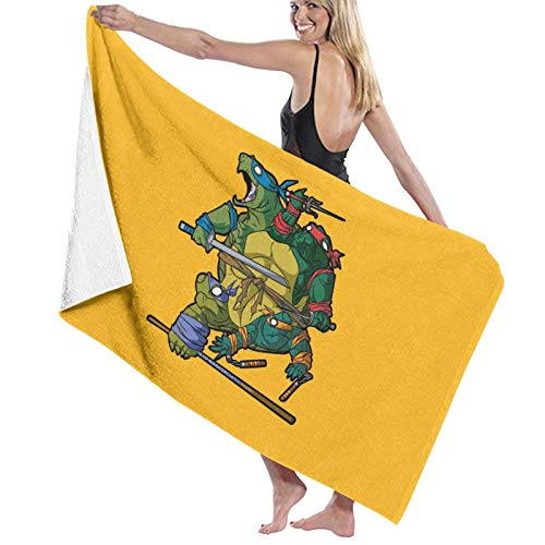 N\ Toalla de baño de Tortugas Ninja Mutantes Teenage Toalla de playa de secado rápido
