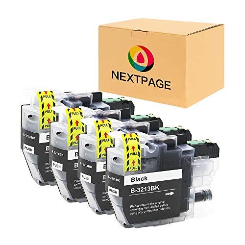 NEXTPAGE LC3213 Patronen Kompatibel für Brother LC3213 LC-3213 LC3211 Druckerpatronen für Brother DCP-J572DW MFC-J491DW MFC-J497DW MFC-J890DW MFC-J895DW DCP-J774DW Drucker (4 Packs LC3213 Schwarz)