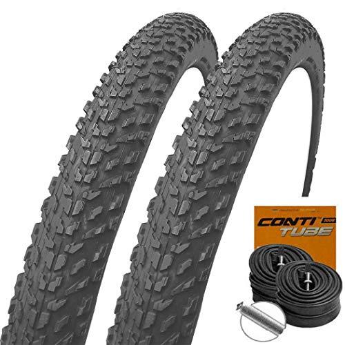 Set: 2 x Michelin Country Dry MTB Reifen Stollenprofil 26x2.00/52-559 + Conti Schläuche Autoventil