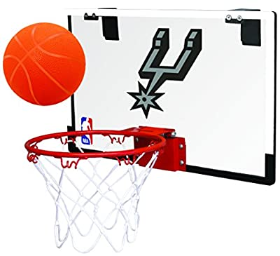 Rawlings NBA Game On Polycarbonate (PC) Mini Basketball Hoop Set, San Antonio Spurs