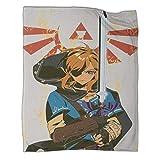 Xaviera Doherty Hyrule Warrior Zelda Age of Disaster Hot Blood Game Manta impresa gruesa de 100 x 130 cm, cómoda felpa que mantiene el calor para cama/sofá/sala/habitación/dormitorio.