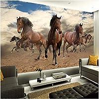 Lcymt カスタム3D壁画壁紙立体ギャロッピング馬リビングルーム寝室の装飾壁アート壁紙-150X120Cm