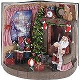 Figura de Navidad con efecto de fuego real, iluminación LED, varios diseños