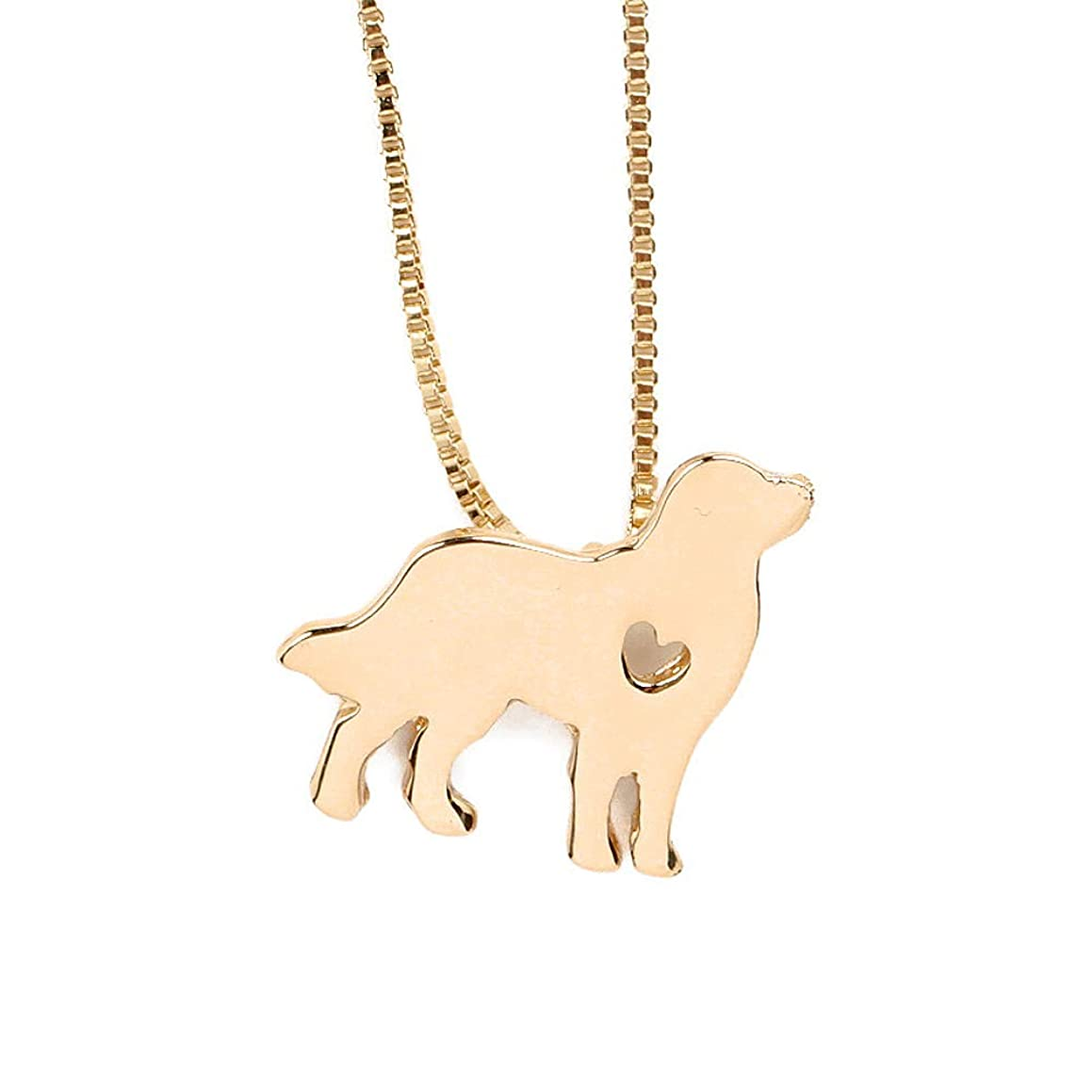 NC078 Cute Golden Retriever Dog Pet Charm Pendant Necklace