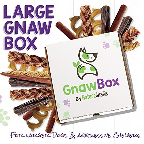 Gnaw Box – Nature Gnaws Dog Chew Treats - Subscription Box: Large Dog GnawBox