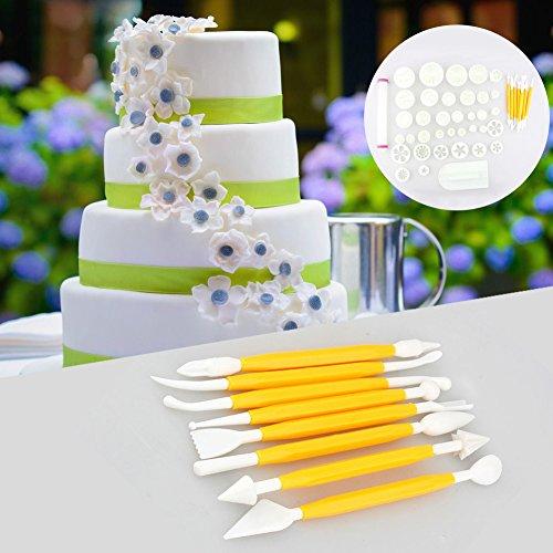 Bakken sugarcraft, doe-het-zelf make-up siroop cake bloemblaadjes saus amandel suiker bakken dessert essential vorm set 46 stuks