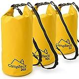 CampTeck Bolsas Estancas Bolsa Seco Impermeable Flotante para Acampar, Rafting, Pesca, Canotaje, Kayak, Snowboard, Natación, Buceo, etc. – 5 litros