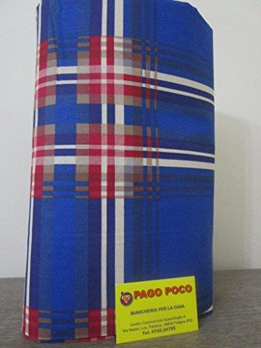 Pago Poco Mehrzweck-Tagesdecke, Motiv: Karos, Maße: 260 x 260 cm 100 % Baumwolle, hergestellt in Italien. !