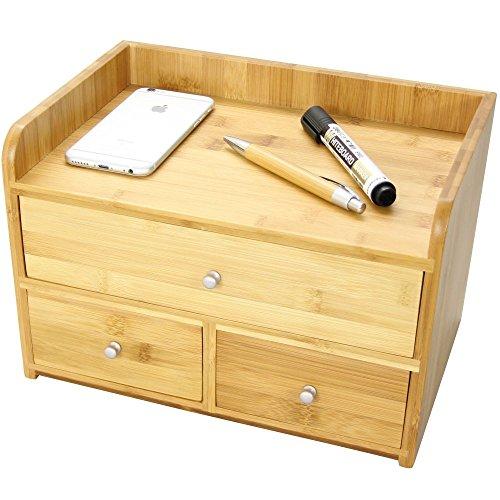 Bambú Grande Organizzatore da Scrivania a 4 Scomparti