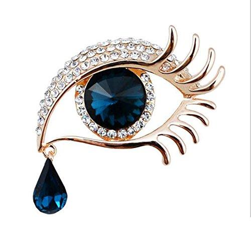 KEWEIT Bonito broche para mujer de aleación con ojo de lágrimas de...
