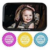 Baby Mirror for Car - Safely Monitor Infant Child in Rear Facing Car Seat - Wide View Shatterproof Adjustable Acrylic 360°for Backseat - Best Newborn Car Seat Accessories - by Snookums