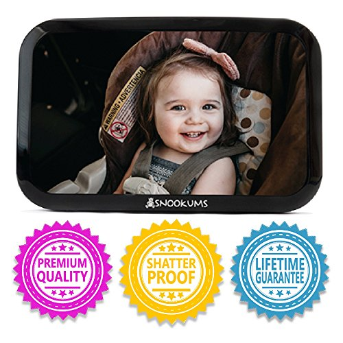 Baby Mirror for Car - Safely Monitor Infant Child in Rear Facing Car Seat - Wide View Shatterproof Adjustable Acrylic 360