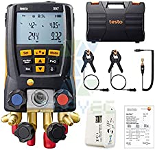 Testo 557 Set Digital Manifold Intelligent Professional Electronic Refrigerant Table Group For Refrigeration System installation and Commissioning 0563 1557