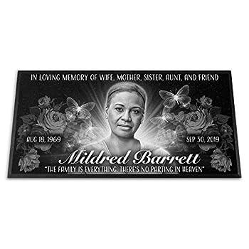 Diamond Engraved Headstone 20x10x¾ Flat Grave Marker Personalized