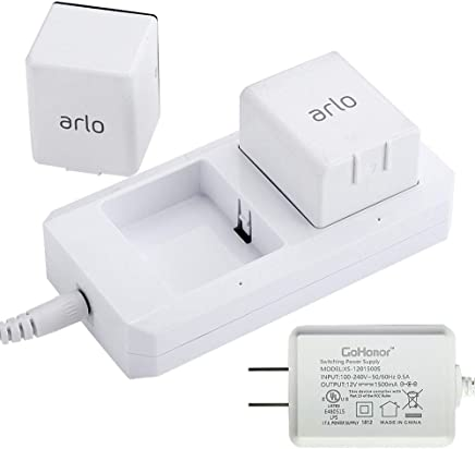 Charging Station for Arlo Charger for Arlo Batteries for Arlo Pro & Arlo Pro 2 & Arlo Go & Arlo Security Light VMA4410 Fireproof Material Adapter Pass FCC & UL Certified