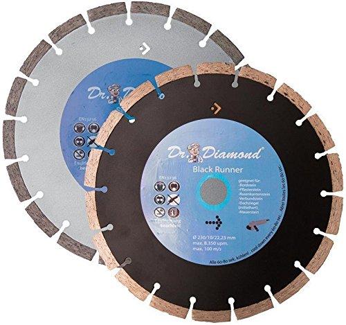 """2x Diamanttrennscheibe \""""Dr. Diamond®\"""" Ø 230 mm für Beton, Stahlbeton, Klinker, Ziegel etc."""