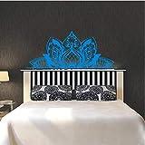 jiuyaomai Wandtattoo Mandala schmücken die Betten Wandaufkleber Lotus Boho Schlafzimmer Böhmen...