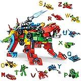 VATOS Bausteine Konstruktionsspielzeug Alphabets Beast ab 6 7 8 9 10 11 12 Jahren - 630 Teile Bausteine Set 27-in-1 Stem Gebäude Baukasten Geschenk für Jungen und Mädchen