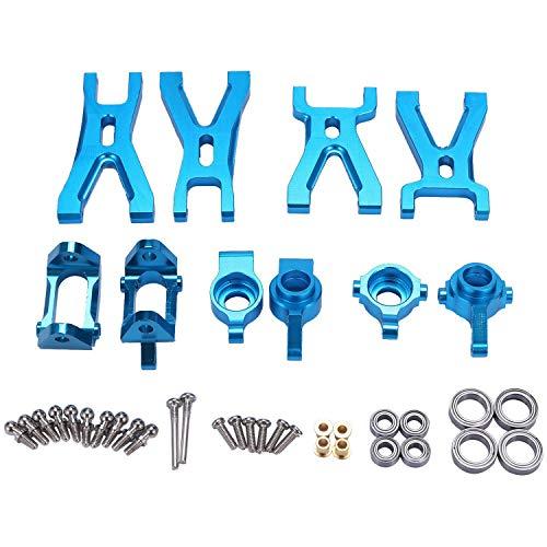 Tiamu Upgrade-Querlenker und Vorder-/Hinterradnabe, C-Sitzteil-Set für A959 A979 A959B A979B RC Auto , blau