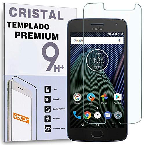 REY Protector de Pantalla para Motorola Moto G5 Plus, Cristal Vidrio Templado...