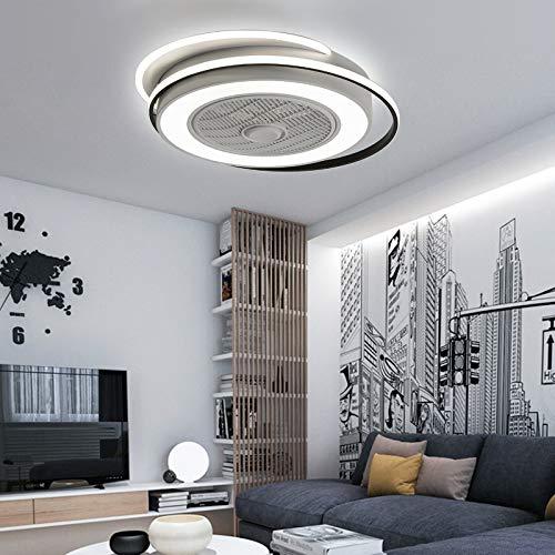 Ventilador de techo con iluminación, ventilador de techo con lámpara LED, para comedor, dormitorio, lámpara de techo